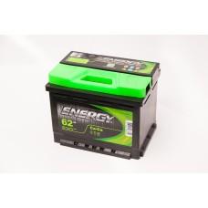 Аккумулятор 62 ENERGY 6СТ-62 R+