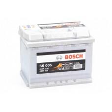 Аккумулятор 63 BOSCH 6СТ-63 R+ (S5005)