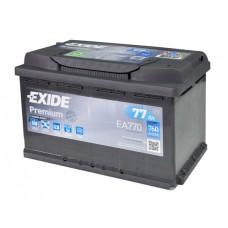 Аккумулятор 77 Exide Premium 6СТ-77 R+ (EA770)