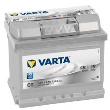 Аккумулятор 52 VARTA SILVER DYNAMIC (C6) 6СТ-52 552401052