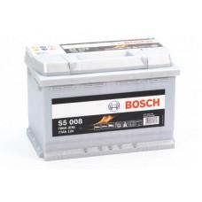 Аккумулятор 77 BOSCH 6СТ-77 R+ (S5008)