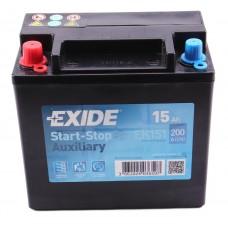 Аккумулятор 15Ah/200A Exide Start-Stop 6СТ-15 L+ (EK151) (вспомогательная)