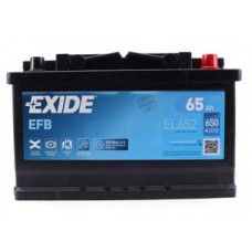 Аккумулятор 65Ah/650A Exide EFB 6СТ-65 R+ (EL652)
