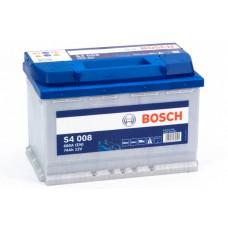 Аккумулятор 74 BOSCH 6СТ-74 R+ (S4008)