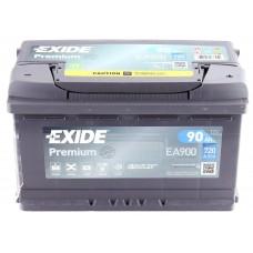 Аккумулятор 90 Exide Premium 6СТ-90 R+ (EA900)