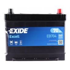 Аккумулятор 70 Exide Excell 6СТ-70 АЗИЯ R+ (EB704)