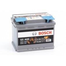 Аккумулятор 60 BOSCH AGM 6CT-60 R+ (S5A050)