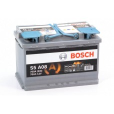 Аккумулятор 70 BOSCH AGM 6CT-70 R+ (S5A080)