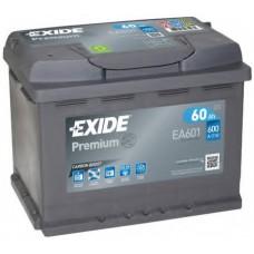 Аккумулятор 60 Exide Premium 6СТ-60 L+ (EA601)